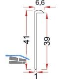 Arbeitplatte-Abschlussprofil zum Anschrauben L 630 mm, Aluminium silber eloxiert