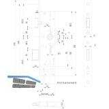 Fluchttürschloss 1820,Flachstulp,1-flg. Funk.B/EN179/1125,DM 30,univer.Edelstahl