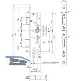 Rohrrahmenschloss BKS 1828 Flachstulp Dornmaß 30 mm