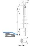 Treibriegelstange BKS 9006, 966 mm, Stange f. Planet Türdichter, unten, verzinkt