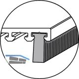 Bürstendichtung Eifel PB 48, Höhe 10 mm, Kunststoff grau