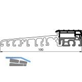 Balkontürschwelle Eifel TB-100, 6000 mm, silber eloxiert/grau