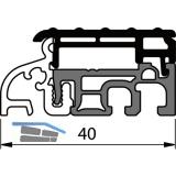 Balkontürschwelle Eifel TB-40, 6000 mm, silber eloxiert/grau