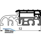 Balkontürschwelle Eifel TB-52, 6000 mm, silber eloxiert/grau