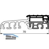 Balkontürschwelle Eifel TB-70, 6000 mm, silber eloxiert/grau