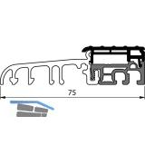 Balkontürschwelle Eifel TB-75, 6000 mm, silber eloxiert/grau