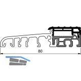 Balkontürschwelle Eifel TB-80, 6000 mm, silber eloxiert/grau