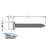 Blechtreibschrauben mit Dichtstück für Grundprofil, 5,5 x 25 mm, Edelstahl