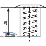 Bodenbüchse mit Verschluss, 10 mm, Messing blank