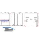 Winch 20 Bremsklappenhalter mit Stahlseil LI KH 200-480 Aluminium//KS grau
