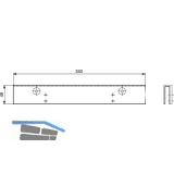 Glastürschuh TS97, silber