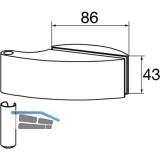 Türband Flügelteil DORMA Studio Arcos 24.230, Glas 8 mm, silber eloxiert