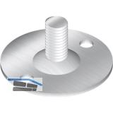 Montageplatte für Dekorfüße Holz/Edelstahl ø 40 mm, Stahl verzinkt
