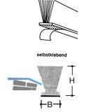 Schiebetür Dichtungsbürste gelocht, Höhe 12 mm, Aluminium eloxiert