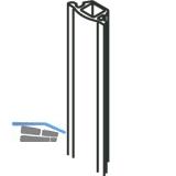 Dichtungsprofil zu Wandanschlussprofil HAWA, 2500 mm, schwarz