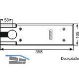 Abdeckplatten TS80, Edelstahl