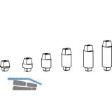 Steckachse für BTS 75, 80, 84, Maß X: 13 mm, Z: 8 mm, Stahl verzinkt