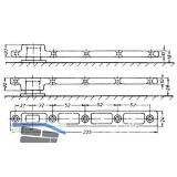 Türschiene DORMA 7421 f. Pendeltür, z. Anschrauben, Stahl verzinkt
