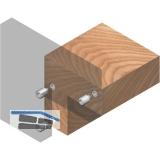 Druckknopfverbinder Upat, für unsichtbare Verbindung von Holz-/Plattenteilen