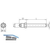 Wechselstift für ECO Stangengriff, 110 mm, VK 9 mm, Stahl verzinkt