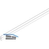 EKU COMBINO 20/35 H Clip-Blende Länge 2500, Aluminium eloxiert
