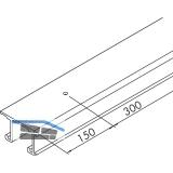 EKU COMBINO 20/35 H DoppeL - Laufschiene gelocht, Länge 2500, Aluminium