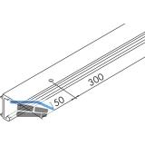 EKU COMBINO 20/35 H Einfach- Laufschiene gelocht, Länge 2500, Aluminium