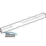 EKU CLIPO Einfach- Laufschiene zum Aufschrauben Alu eloxiert, gelocht, L - 2500