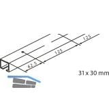Laufschiene GM für Deckenmontage EKU-PORTA 100-GH 2500 mm, silber elox.