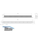 Wetterschutzgitter FRESH 42 außen, Kunststoff RAL 9010