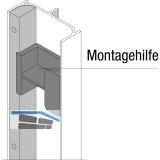 Füllprofil Aktor E-Gerätebefestigung C-Profil vertikal, L 1150, Alu eloxiert