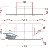 Stangenschlaufe zu Falttortreibriegel, Stange 30 X 10 mm, Stahl verzinkt