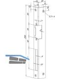 Winkelschließblech IW eckig, links, 25x32x250x2 mm, Edelstahl (--06635-04)
