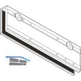 Glasklemmplatte TS 3000, Glasstärke max. 10 mm, silber
