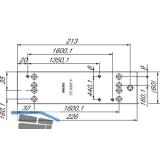 Montageplatte GEZE für TS 3000, RAL 9016