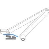 Normalgestänge o. Feststellung für TS 2000/4000/E/EFS, dunkelbraun