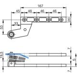Zapfenband GEZE Modell DB, f. gefälzte Türen, Stahl verzinkt