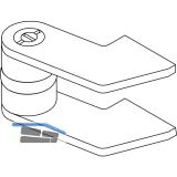 Zapfenband GEZE Modell EK f. Stahltüren, gezogener Flachstahl, blank