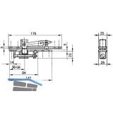 Zapfenband GEZE Modell C f. Pendeltüren m. Türschiene, Stahl verzinkt
