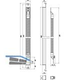 Kabelübergang GU verdeckt-rund, 346 x 20 x 18 mm, Edelstahl