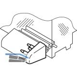 Endkappe zu Wetterschenkel, Kunststoff grau RAL 7035