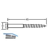 Flachkopf-Holzschraube für Basisprofile 4,0 x 45 mm, Edelstahl