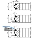 Kantenschutzprofil HAWA,1 ROL = 5 Meter, Gummi EPDM braun (RAL 8024)