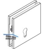 Abdeckkappen eckig Profilzylinder zu HAWA Toplock