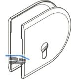 Abdeckkappen rund Profilzylinder zu HAWA Toplock, Kunststoff Edelstahl-Effekt