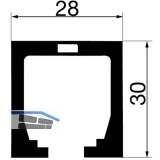 Laufschiene HAWA-Junior 40, 1400 mm, Aluminium farblos eloxiert