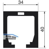 Laufschiene HAWA-Junior 80, 1400 mm, Aluminium farblos eloxiert