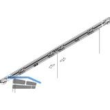 Synchronbeschlag HAWA-Symmetrie 80/Z, Flügelb. 500-1200 mm f. 2-flg.Schiebetüren