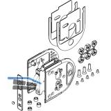 Schiebetürschloss HAWA-Toplock für ESG/VSG 8 - 12,7 mm, PZ