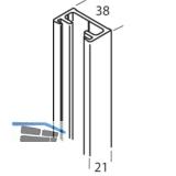 Wandprofil HAWA-Toplock, 2500 mm, Aluminium natur